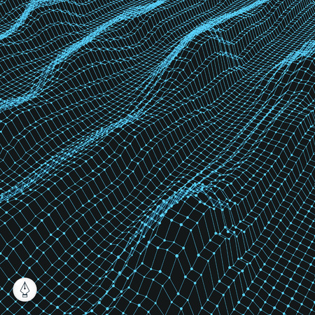 energy grid: Abstract Grid Background. Water Surface. Vector Illustration. Can Be Used For Wallpaper, Web Page Background, Web Banners.