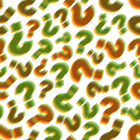 Questions. Seamless pattern. Vector illustration. Can be used for wallpaper, web page background, web banners. Vettoriali