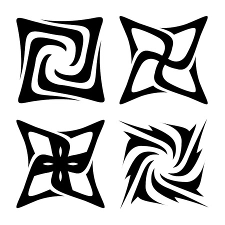 Collection of different graphic elements for design. Vector illustration. Can be used for design and decoration backgrounds, package, covers, textile.