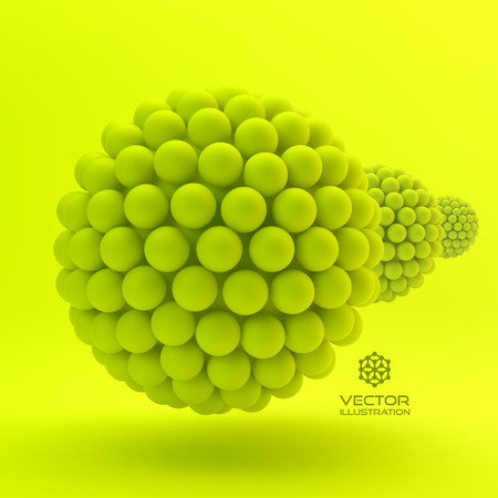 biology cell: 3D Concept Illustration. Vector Template. Can Be Used For Design And Presentation. Illustration