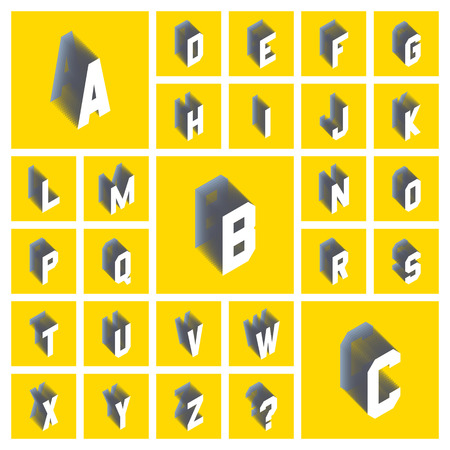 textual: Alphabet Set. 3d Vector Illustration. Design Elements. Can Be Used For Design And Presentation. Illustration