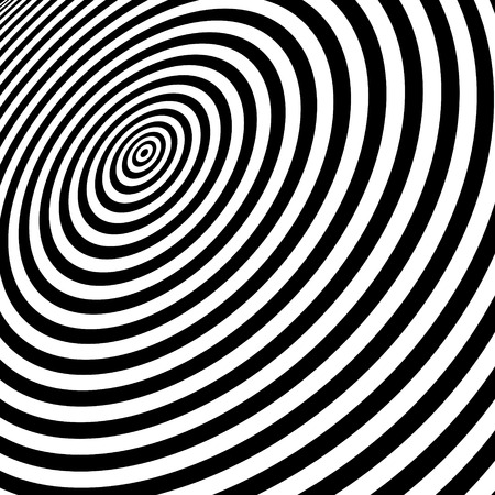 arte optico: Blanco y negro abstracto Fondo rayado. Optical Art. Ilustraci�n del vector.