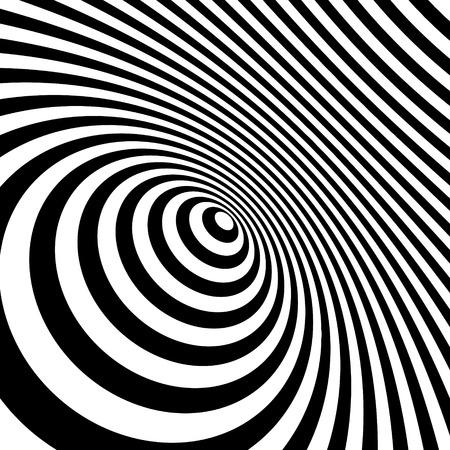 arte optico: Blanco y negro abstracto Fondo rayado. Optical Art. Ilustración del vector.