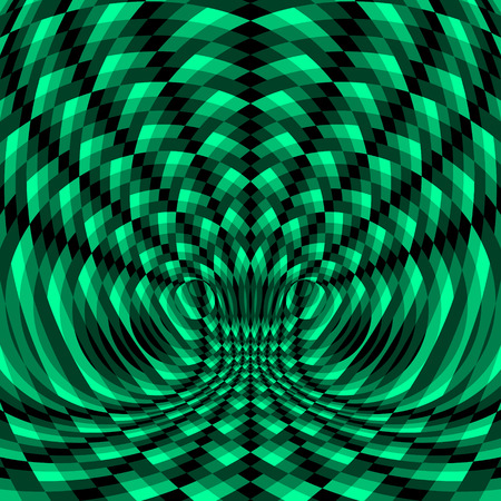 opt: Abstract Swirl Background. Pattern With Optical Illusion. Vector Illustration. Illustration