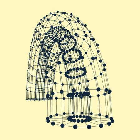 Abstract puntos de conexión y líneas. Diseño gráfico. Ilustración del vector 3d. Se puede utilizar para fondo de pantalla, fondo de páginas web, banners web. Ilustración de vector