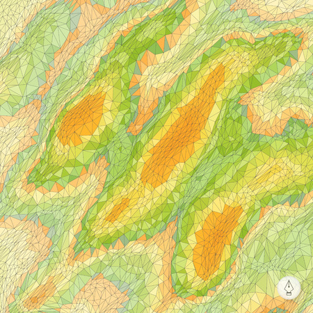 topographical: Abstract landscape background. Mosaic. 3d technology vector illustration. Can be used for banner, flyer, book cover, poster, web banners. Illustration