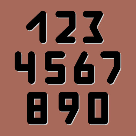 web 2 0: Number icons. Vector set. Can be used as web sign and design element.