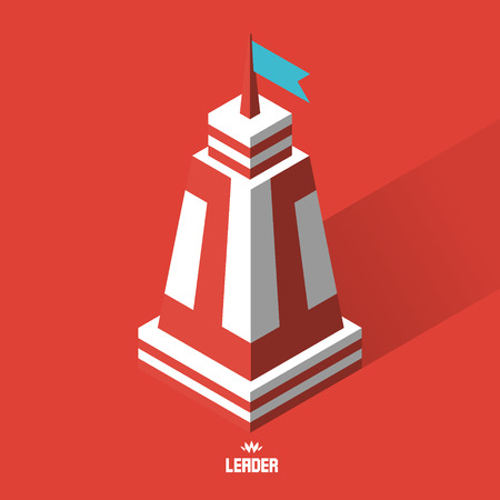 citadel: Leader concept. Tower. 3d vector illustration. Can be used as web sign and design element. Illustration