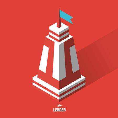 防衛: Leader concept. Tower. 3d vector illustration. Can be used as web sign and design element.  イラスト・ベクター素材