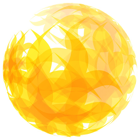 flamy: Sphere. Abstract vector illustration. Can be used for marketing, website, print and presentation. Illustration