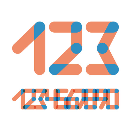 web 2 0: Numbers Set Modern Style. Icons. Vector Illustration. Can Be Used For Design.