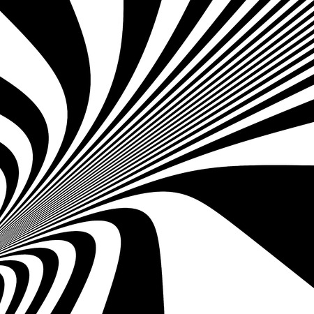 dynamical: Pattern With Optical Illusion. Black And White Background. Vector Illustration.