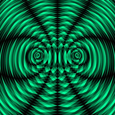 kaleidoscopic: Abstract Swirl Background. Pattern With Optical Illusion. Vector Illustration. Illustration