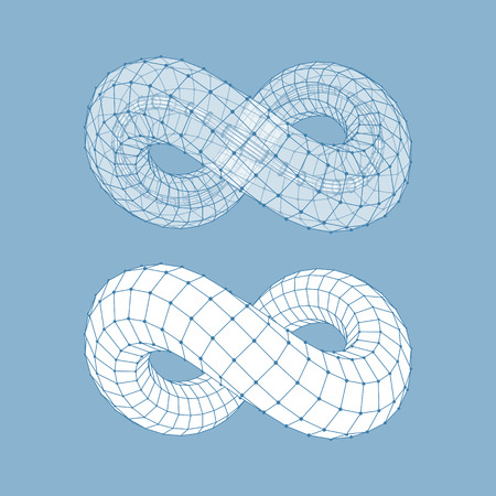 infinity icon: Infinity Symbol. Can Be Used As Design Element, Emblem, Icon. 3d Vector Illustration.
