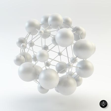 3D Molekülstruktur Hintergrund. Grafik-Design. Vektor-Illustration. Kann für das Plakat, Karten, Flyer oder Banner verwendet werden.