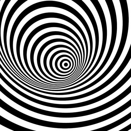 arte optico: Rayas de fondo abstracto blanco y negro. Optical Art. Ilustraci�n del vector.