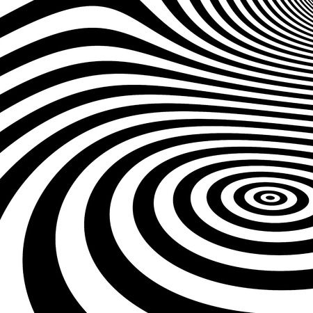 arte optico: Rayas de fondo abstracto blanco y negro. Optical Art. Ilustraci�n del vector.