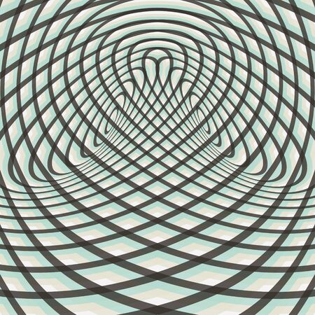 opt: Abstract swirl background. Pattern with optical illusion. Vector illustration.