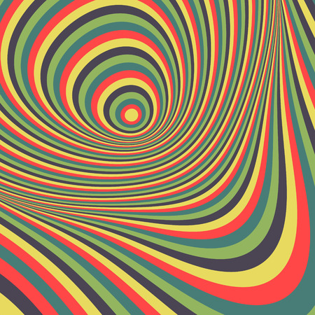 illusion: Abstract swirl background. Pattern with optical illusion. Vector illustration.