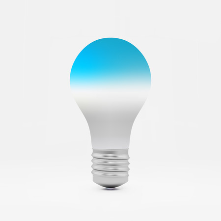 idea symbol: Lightbulb idea symbol. 3d vector illustration. Can be used for your business presentation.