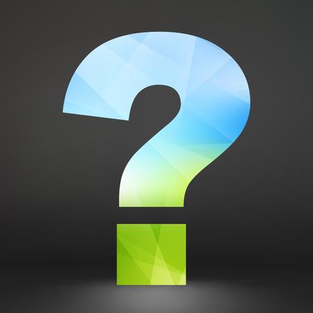 punto di domanda: Punto interrogativo. Icona di ecologia. Illustrazione vettoriale. Può essere utilizzato come sfondo per la presentazione aziendale.