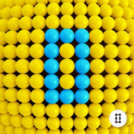 nulo: El n�mero cero. Fondo abstracto de las matem�ticas. Ilustraci�n vectorial 3d.