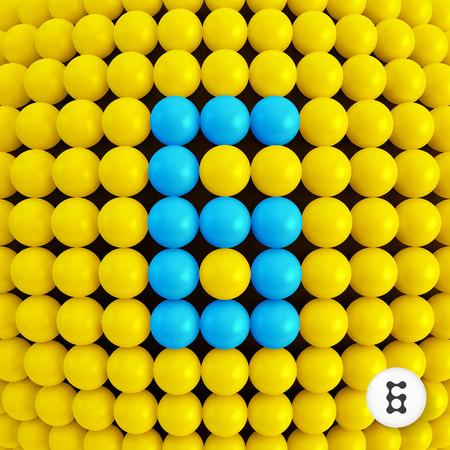 sixth form: El n�mero seis. Fondo abstracto de las matem�ticas. Ilustraci�n vectorial 3d. Puede ser utilizado para el dise�o y presentaci�n.