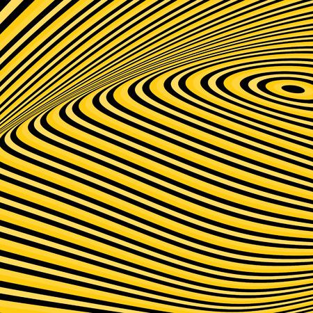arte optico: Modelo con la ilusión óptica. Resumen de antecedentes. Arte óptico. 3d ilustración vectorial. Vectores