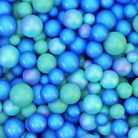 glassy: Abstract vector background with various balls. Spheric pattern. 3d vector illustration. Illustration