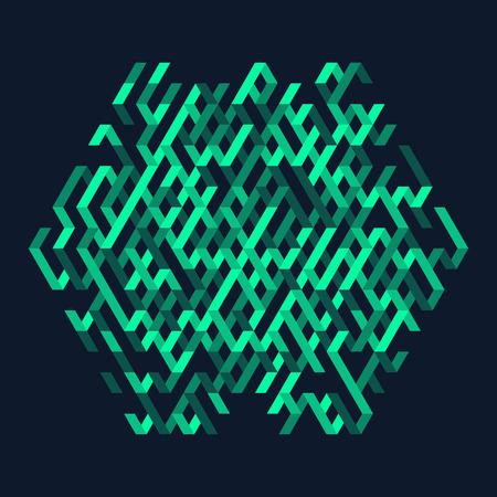 the maze: Resumen ilustraci�n vectorial. Se puede utilizar para dise�o y presentaci�n.