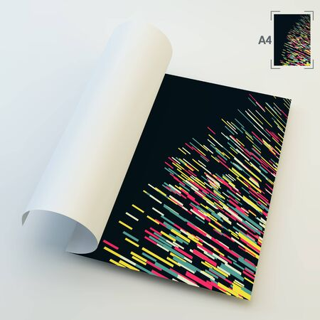 catalog templates: A4 Business Blank. Abstract Background. Vector Illustration.