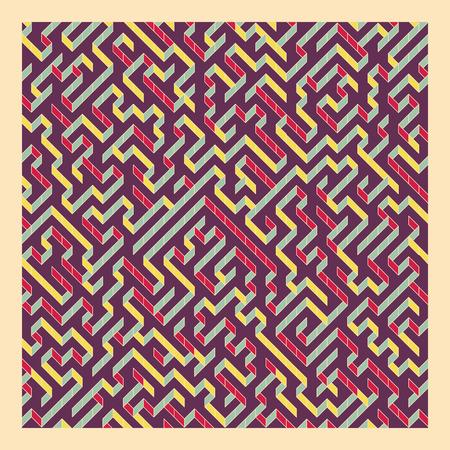 perplex: Maze. Vector Illustration Of Labyrinth.