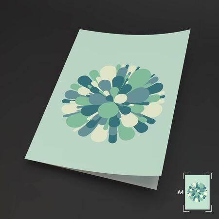 blank business card: A4 Business Blank. Salute And Fireworks. 3d Vector Illustration. Celebration Card.  Illustration