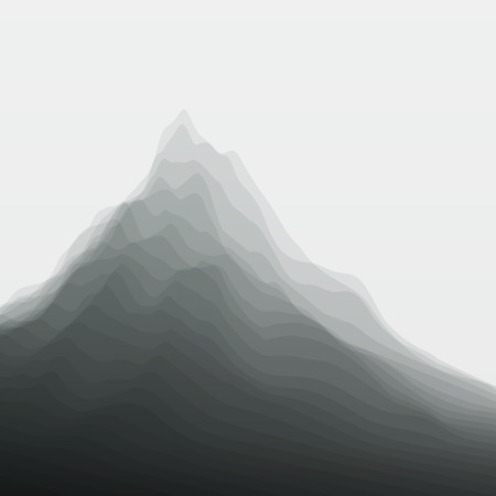 Mountain Landscape. Vector Silhouettes Of Mountains Backgrounds. 向量圖像