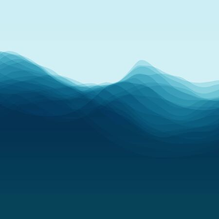 aqueous: Water Wave. Vector Illustration For Your Design. Flowing Background With Halftone.  Illustration