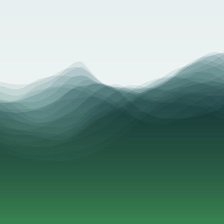 olas de mar: Onda de agua. Ilustración vectorial para su diseño. Antecedentes que fluye con el tono medio. Puede ser utilizado para la bandera, aviador, Cubierta de libro, Póster, Banners Web.