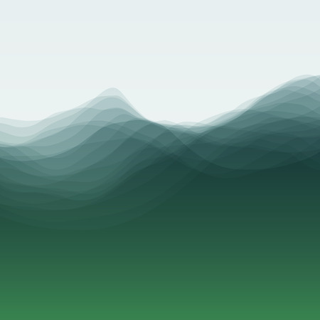waves ocean: Water Wave. Vector Illustration For Your Design. Flowing Background With Halftone. Can Be Used For Banner, Flyer, Book Cover, Poster, Web Banners. Illustration