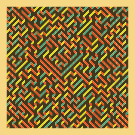 perplex: Maze. Vector Illustration Of Labyrinth. Can Be Used For Wallpaper, Background, Book Cover. Illustration