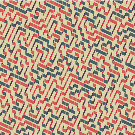 deadlock: Maze. Vector Illustration Of Labyrinth. Can Be Used For Wallpaper, Background, Book Cover. Illustration
