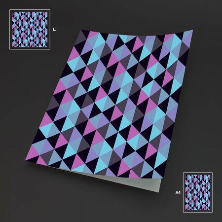 abstract illustration: A4 da visita in bianco. Abstract Illustrazione