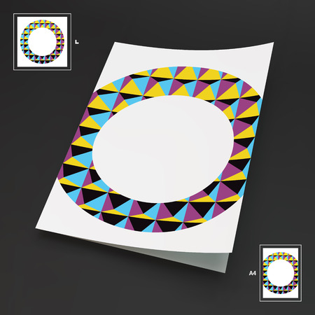 magazine template: A4 Business Blank. Abstract Illustration
