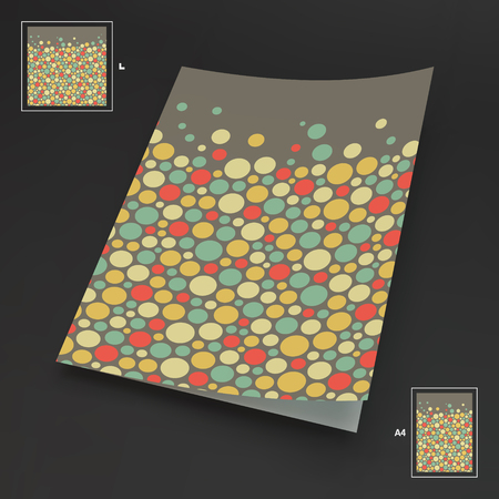 diary: A4 business blank. Abstract background with color circles Illustration