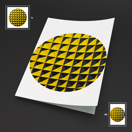 retailers: A4 Business Blank. Abstract Vector Illustration. Can Be Used For Advertising, Marketing, Presentation.
