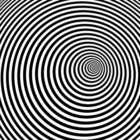 arte optico: Black and white abstract striped background. Optical Art. Vector illustration.