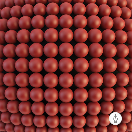 spheric: Abstract technology background with balls. Spheric pattern. 3d vector illustration. Can be used for wallpaper, web page background and book cover. Illustration