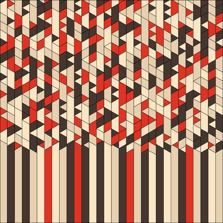 package design: Abstract Geometric Background. Mosaic. Vector Illustration. Template for design and decoration backgrounds, package, covers and textile. Illustration