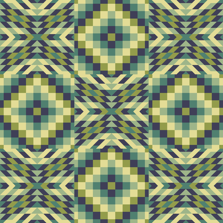 microprint: Seamless pattern. Mosaic. Template for design and decoration backgrounds, package, covers and textile. Abstract vector illustration.