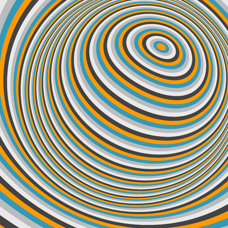 optical: Abstract swirl background. Pattern with optical illusion. Vector illustration.