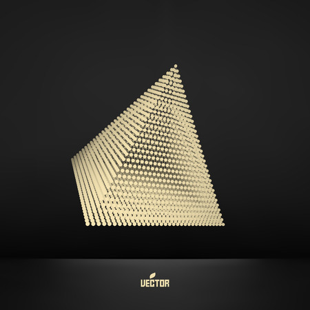 triangulum: Pyramid. Connection structure. Vector 3D illustration. Illustration