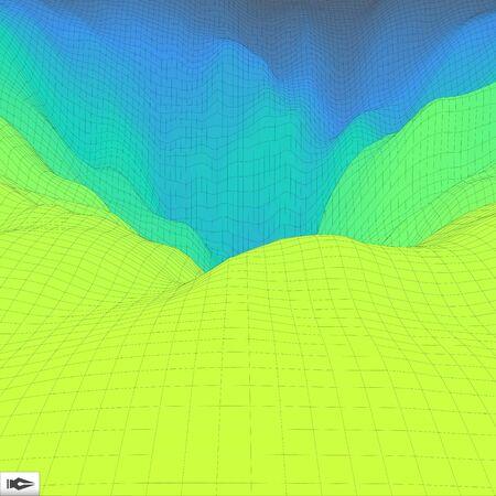 perspective grid: 3d Perspective Grid Background Texture. Mosaic. Lattice Effect. Illustration